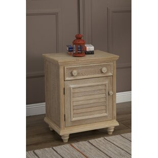 Eastweald Traditional 1 Drawer Nightstand by Beachcrest Home