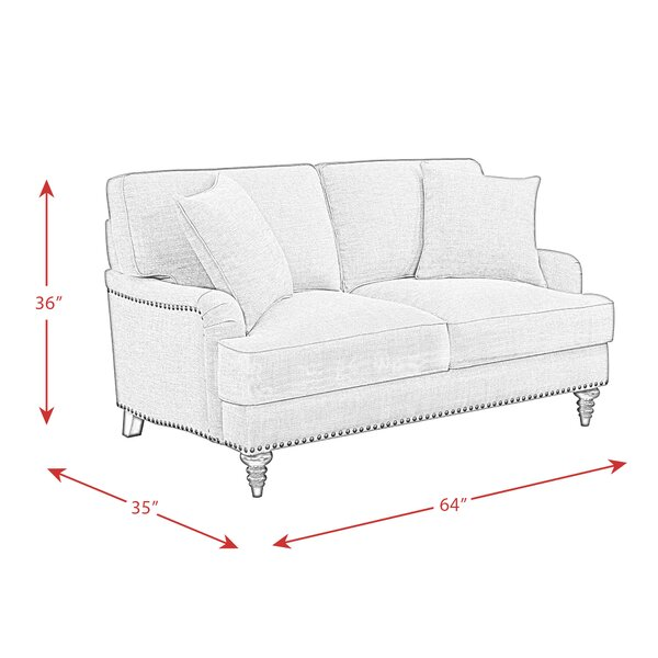 Ashlynn 64 Round Arm Loveseat Reviews Joss Main