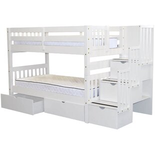 Tena Twin over Twin Bunk Bed with Extra Storage by Harriet Bee