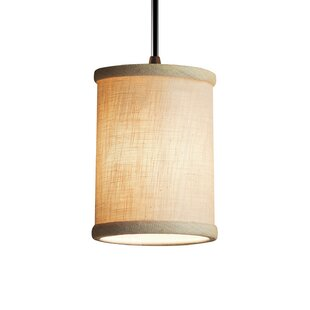 Favela 1 Light Cylinder w/ Flat Rim Mini Pendant by Ebern Designs