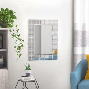 Wade Logan Caleta Modern Wall Mirror