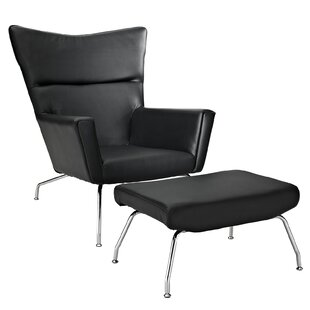 Class Lounge Chair and Ottoman by Modway