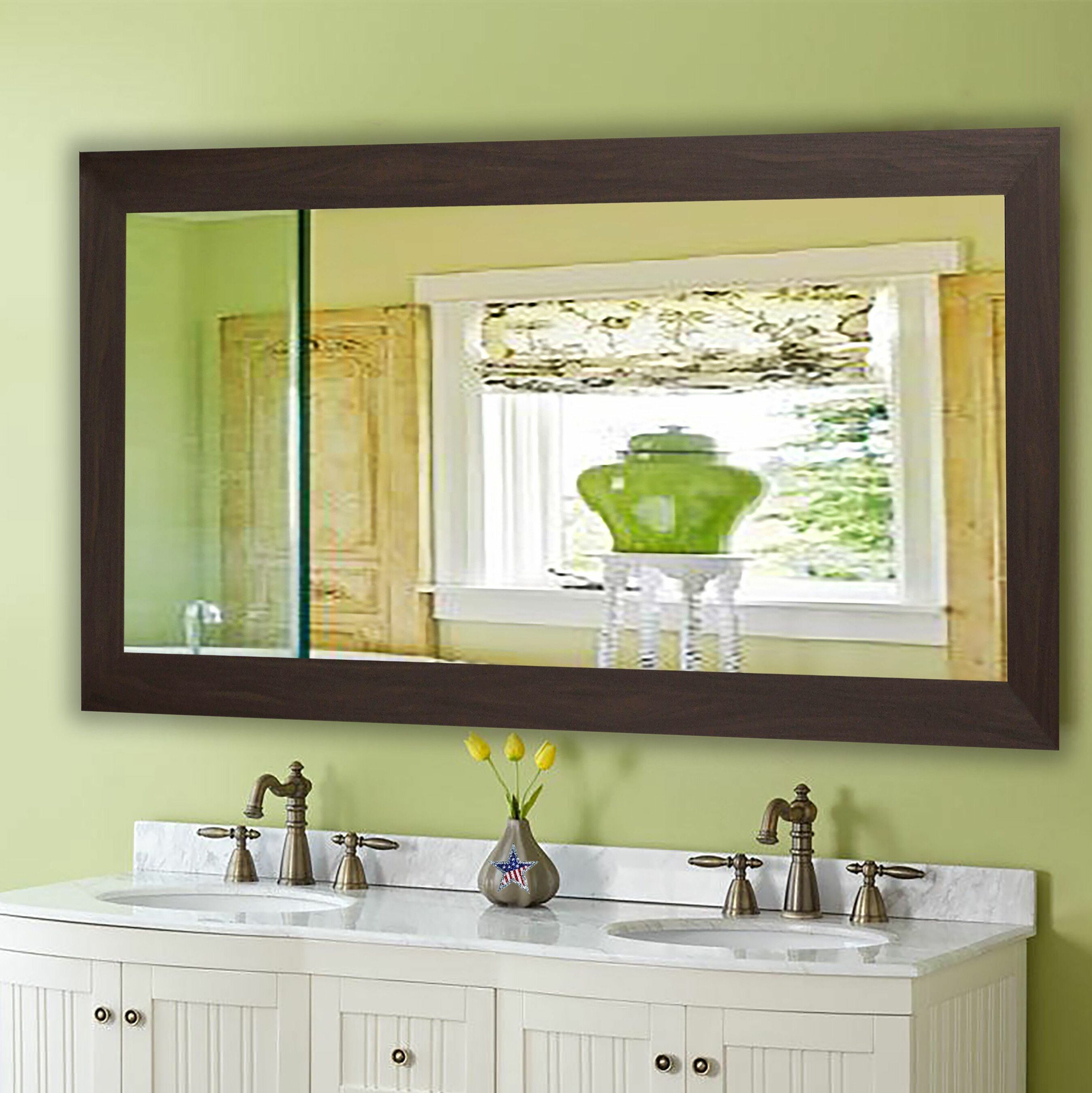 Gracie Oaks Lunt Farmhouse Accent Mirror & Reviews | Wayfair