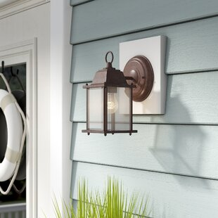 Caldecott Cube 1-Light Outdoor Wall Lantern