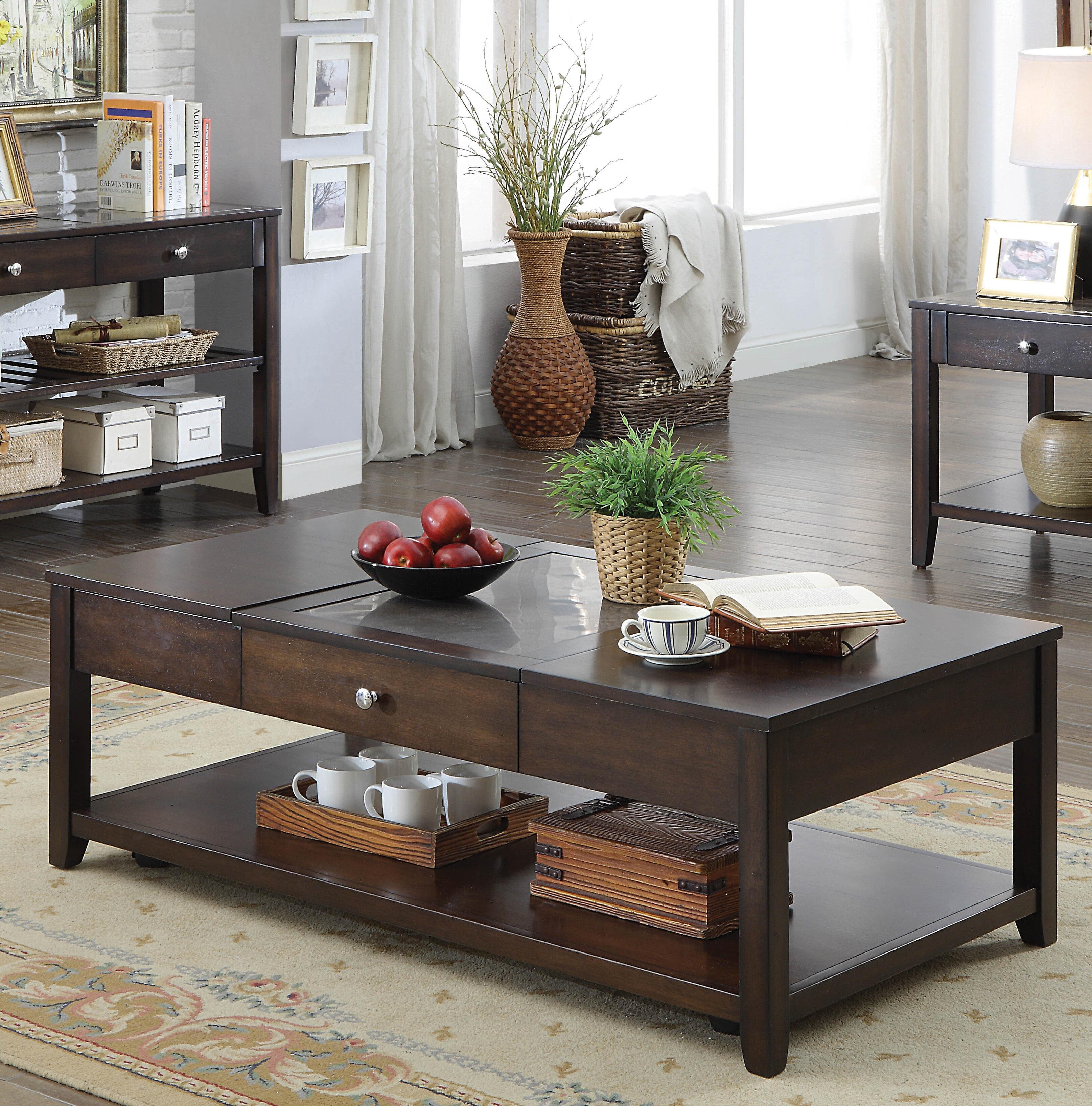 Latitude Run Candleick Lift Top Coffee Table Wayfair [ 3271 x 3229 Pixel ]