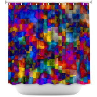 Cloudy Cubes Single Shower Curtain