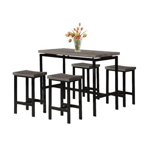 Denzel 5 Piece Counter Height Breakfast Nook Dining Set Wrought Studio