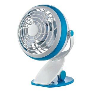 1 Sd Battery Usb Clip Oscillating Personal Fan