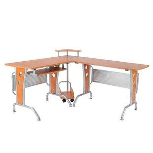 HomCom Modern L-Shaped Computer Desk
