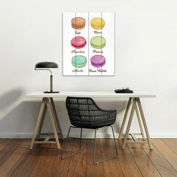 Dianochedesigns Laduree Macaroons I Graphic Art Print On Wood Wayfair
