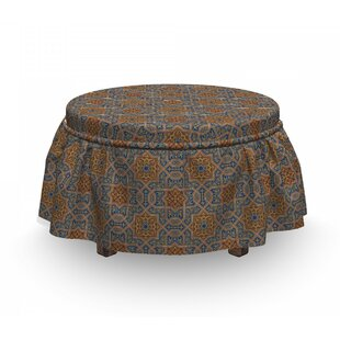 Moroccan Traditional 2 Piece Box Cushion Ottoman Slipcover Set By East Urban Home