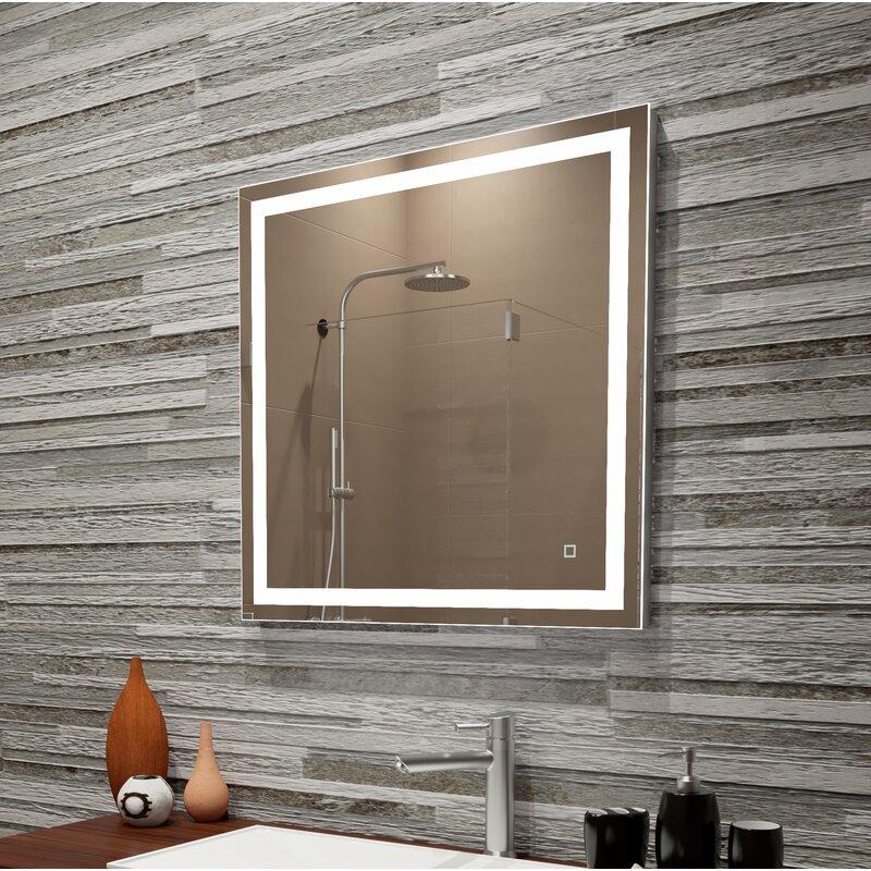 Orren Ellis Bolyard Led Dimmable Lighted Bathroom Vanity Mirror Wayfair