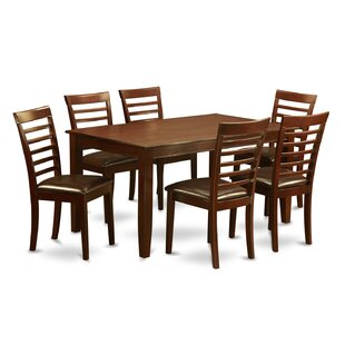 Dudley 7 Piece Solid Wood Dining Set Wooden Importers