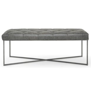 Ballance Faux Leather Bench by Wrought Studio