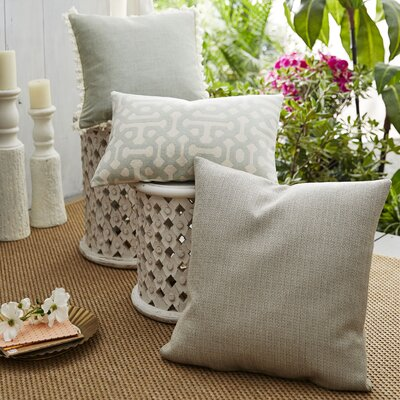 Coastal Fretwork Indoor/Outdoor Pillow by Patina Vie 2020 Sale
