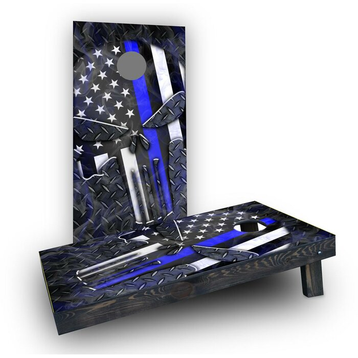 Swell Punisher American Flag Thin Line Cornhole Spiritservingveterans Wood Chair Design Ideas Spiritservingveteransorg