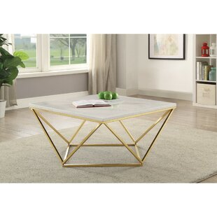 Mccann Faux Marble Coffee Table by Ivy Bronx Today Sale Only