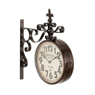 Candor Rustic Central Station Vintage Double Sided Wall Clock