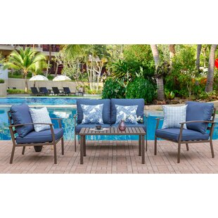 Tony 4 Piece Sofa Set with Cushions