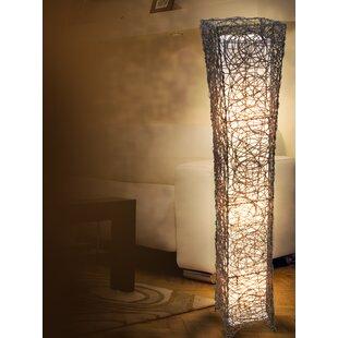 Floor lamps tripod standing floor lamps wayfair zubia 118cm column floor lamp mozeypictures Gallery