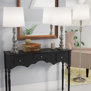 Three Posts Girardeau 3 Piece Table and Floor Lamp Set