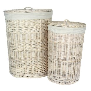 Round Lining Wicker 2 Piece Laundry Set By August Grove