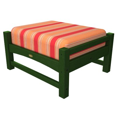 Trex Outdoor Rockport Club Ottoman Colour: Rainforest Canopy / Bravada Salsa