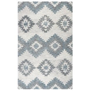 Melaina Gray Hand-Woven Wool Area Rug by Union Rustic