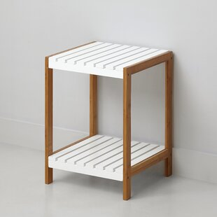 2 Tier Bamboo End Table