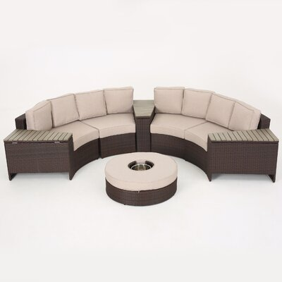Amazing Sol 72 Outdoor Bermuda 8 Piece Sectional Set With Cushions Machost Co Dining Chair Design Ideas Machostcouk