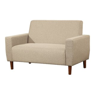 Ladson Mid Century Linen Loveseat by Turn on the Brights