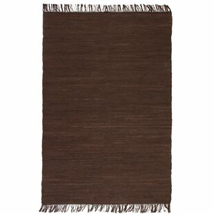 Carswell Hand-Knotted Cotton Brown Rug By Brambly Cottage
