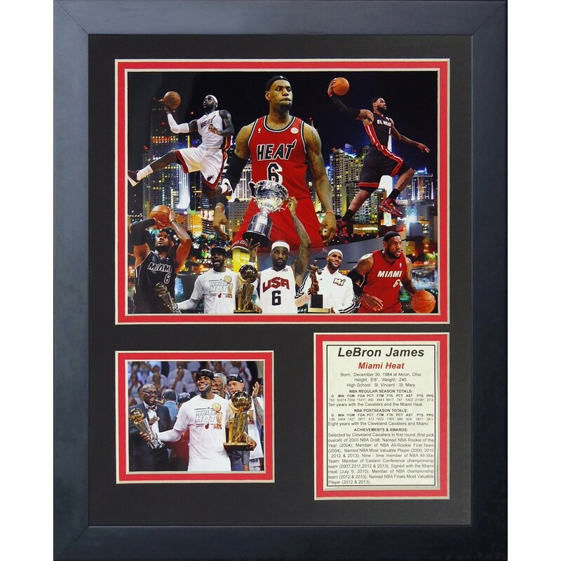 Legends Never Die Lebron James Miami Heat Collage Framed Memorabilia ...