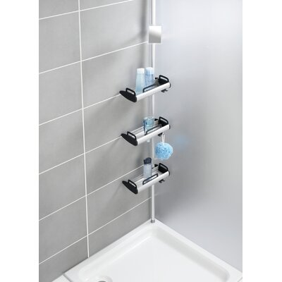 Versalot Tub And Shower Tension Pole Corner Shower Caddy U0026 Reviews .