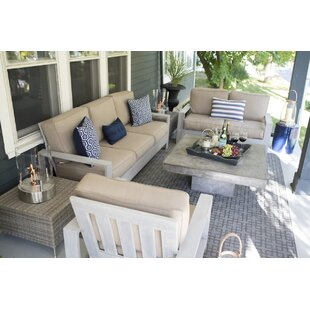 Boykin Deep Seating Group with Sunbrella Cushions by Rosecliff Heights