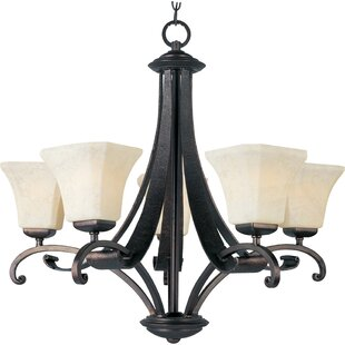 Darby Home Co Cottrell 5-Light Shaded Chandelier