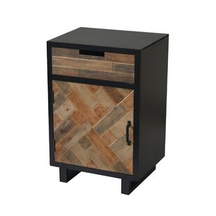 Molloy Wood Panel 1 Drawer 1 Door Accent Cabinet with Metal Leg by Wrought Studio