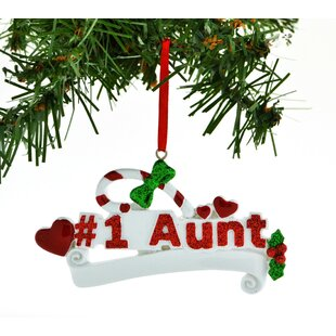 personalized christmas ornament 1 aunt hearts candy cane hanging figurine - Christmas Candy Cane Decorations