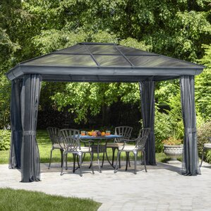 Elegant All Season 10 Ft. W X 14 Ft. D Metal Permanent Gazebo