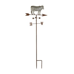 Cole & Grey Farmhouse Cow on Weathervane Gothic Trellis