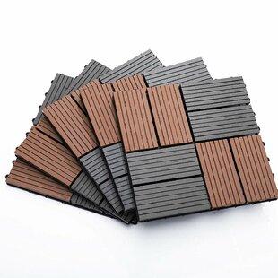 Dearborn 33 X 33cm Plastic Tile In Matte Grey/Brown by Lynton Garden