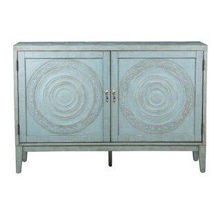Devonne Embossed 2 Door Cabinet by Mistana