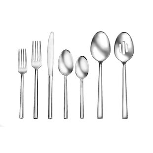 Henway 50 Piece 18/10 Stainless Steel Flatware Set, Service for 12