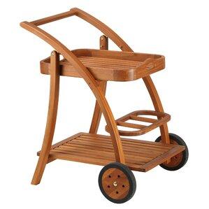Aldham Serving Bar Cart by Rosecliff Heig..