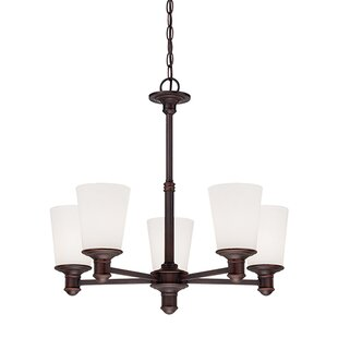 Beckville 5-Light Shaded Chandelier by Charlton Home