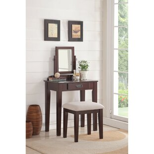 Charlton Home Holthaus Wooden Vanity Set
