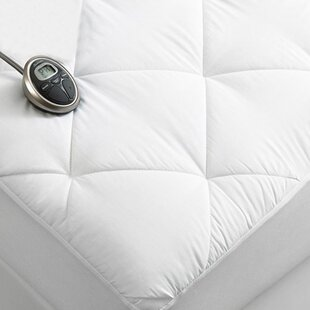 Premium Luxury Quilted Electric Twin Polyester Heated Mattress Pad