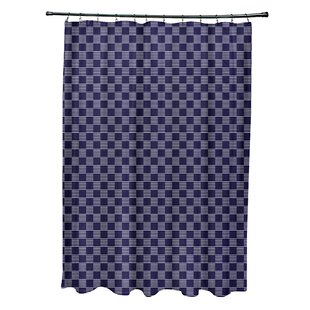 Geometric Single Shower Curtain