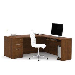 Karyn L-Shape Pedestal Computer Desk