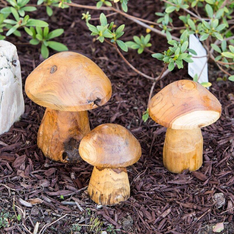 Teak Root Mushroom Set Of 3